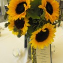 130x130 sq 1395849208455 sunflower centerpiece lr