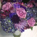130x130 sq 1341279377542 allpurpleweddingbouquet