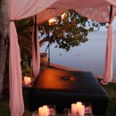 130x130 sq 1332628776224 pinkandblackweddingreceptionbeachfrontoasisestateoahuhawaii