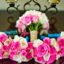 130x130 sq 1376082608056 hot pink and white rose bouquets