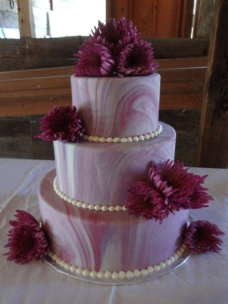1361638955379 Purplemarble8 Chino Hills Wedding Cake