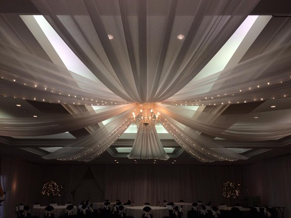 String Lights In Ceiling : Music On The Move - DJ Entertainment, Event Lighting, & Draping - Tampa, FL Wedding Dj