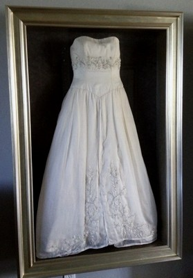 Frame your wedding dress help weddings do it yourself for Frame your wedding dress