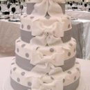 130x130 sq 1238782013593 weddingcakewhiteribbons