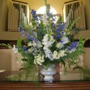 Blue White and Green Alter Arrangement