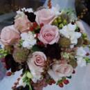 130x130 sq 1432092814775 wedding bouquet pink roses white gardenias red ber