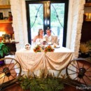 130x130 sq 1442949693095 la maison wagon wheel sweetheart table with back d