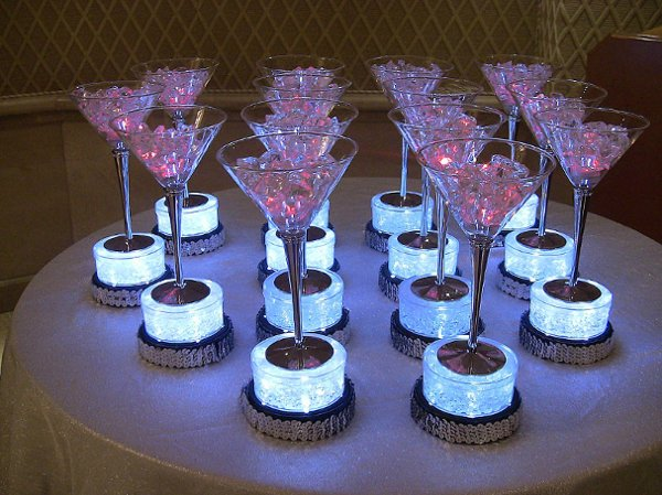 Fabulous Theme Party Decor Centerpieces, Featuring Martini Glasses On .