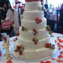 220x220 sq 1376751801589 wedding cakew roses crop