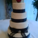 130x130 sq 1463095551921 wedding black ribbon red rose