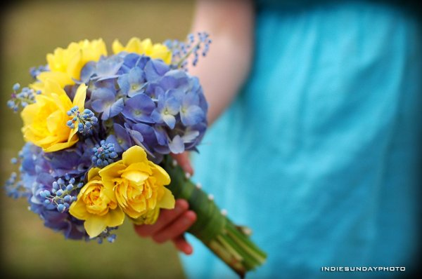 Blue Yellow Bouquet Wedding Flowers Photos Amp Pictures