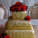 130x130 sq 1281369871423 beigeandgoldweddingcakewebview