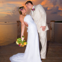 220x220 sq 1426787506186 beachside weddingsunset on the pier