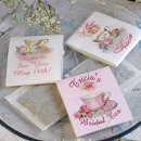 Wedding Tea Bag Favors, elegant tea bridal favors or wedding shower bridal tea favors.