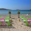 130x130 sq 1377491888219 img4816std pink  lime green maagens bay set up