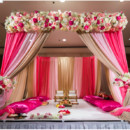 130x130 sq 1426640642899 basic mandap with flowers