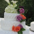 130x130 sq 1242170966859 weddingcakeorangeroseslavender