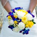 130x130 sq 1420738655741 bride bouquet on dress
