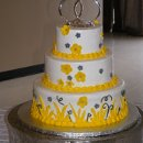 130x130 sq 1356416522038 yellowwhitegrayweddingcakes