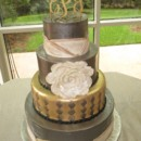 130x130 sq 1378194730239 gold ivory wedding cake ashton gardens