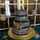 130x130 sq 1415606837895 black ivory wedding cake raveneaux