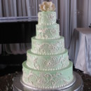 130x130 sq 1415607324357 ivory lt green wedding cake te petroleum club