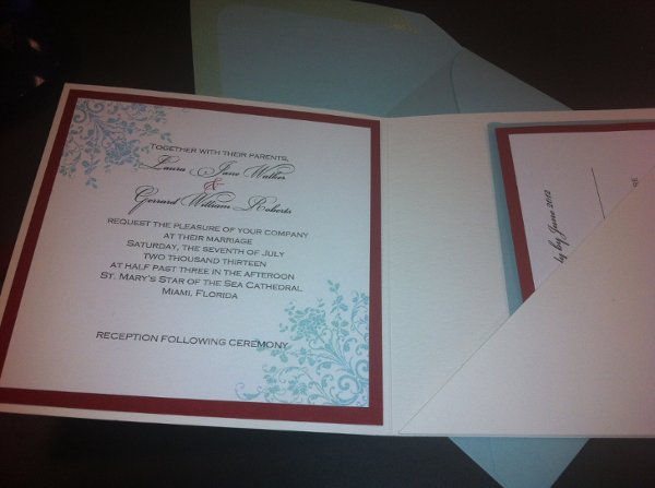 1351024960732 Priscilla2 Miami wedding invitation
