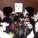 Wedding Reception -163 People Crowne Plaza Bloomington provided Black Table Linens & White Napkins. Couple Provided their own Centerpieces & Table Numbers.