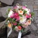 130x130 sq 1413862370831 coral peach white bridal bouquet juliet roses