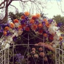 130x130 sq 1450120816131 purple orange white wedding arch with orchids