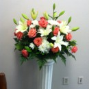 130x130 sq 1455376386837 orange white altar flowers ceremony