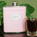 130x130 sq 1401732764487 pink leather personalized flask8517940 initialsl