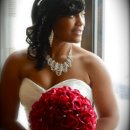 American Beauty Bridal Bouquet For this gorgeous bride we designed an American Beauty Rose bouquet with diamante throughout. Price depends on number of flowers.