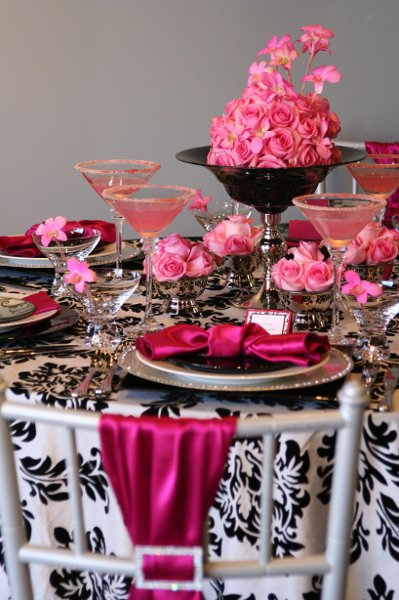 Black Pink White Centerpiece Centerpieces Chairs Indoor Reception Summer Wedding Reception Photos u0026 Pictures - WeddingWire & black white and pink table decorations u2013 Loris Decoration