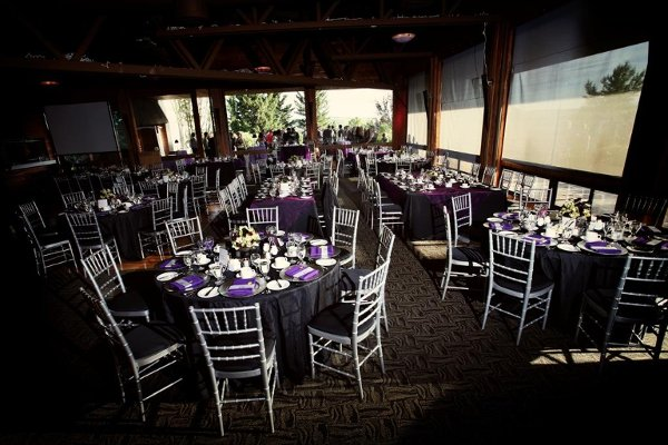 Black Purple Silver White Chairs Indoor Reception Wedding Reception Photos Amp Pictures