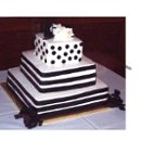 130x130 sq 1246397984787 blackandwhiteweddingcake
