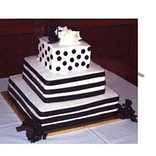 220x220 sq 1246397984787 blackandwhiteweddingcake