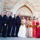 Fall wedding bridal party formals.