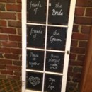 130x130 sq 1416606882304 vintage window as chalkboard sign