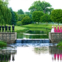 220x220 sq 1416605672844 bridal party by waterfall