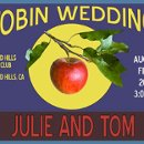Vintage fruit label inspired wedding logo design - perfect for invitations, favors, and all wedding stationery.