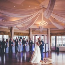 220x220 sq 1493307513433 draping in ballroom