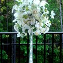 Tower Vase CEnterpiece in Cream.