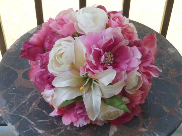 1384783938472 Fuchsia Pink Bridal Bouquet Savannah Wedding Florist