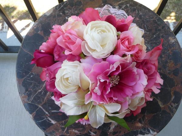 1398783033225 Fuchsia Pink Bridal Bouquet Savannah Wedding Florist