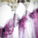 130x130 sq 1382496839914 eggplant sashes on chairs 2