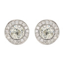 130x130 sq 1398932045442 platinum pave diamonds post earring