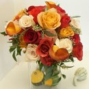 130x130 sq 1288998608901 autumnrosebouquet