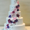 130x130 sq 1376048710545 silverpink wedding cake cascading flowers the cake zone  florida