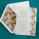 Flourishes of color are shown on this shimmery card.